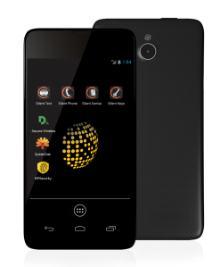 Blackphone front and back view